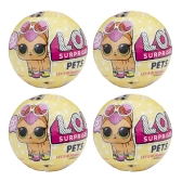4Pcs L.O.L Surprise Doll Pets Series Egg Toy 9.5CM