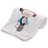 Baby Decke weichen Flanell Swaddling Sticken Kinderwagen Auto Sofa Bettwäsche Decke Boy Girl Lion