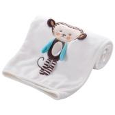 Manta de bebé Suave Franela Swaddling Bordar cochecito Coche Sofá Ropa de cama Manta Boy Girl Lion