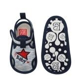 Zapatos de bebé para bebés pequeños Sandalias para niños Cinta mágica Suela blanda Zapatillas antideslizantes Prewalker para verano Azul Talla 4