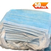 50Pcs Disposable 3-Layer Medical Sanitary Surgical Mask For Coronavirus