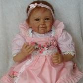 22inch 55cm Reborn Toddler Baby Doll Girl Silicone Body Boneca com roupas Lifelike Cute Gifts Toy