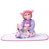 22inch 55cm Reborn maluch Baby Doll Girl PP wypełnienie silikonowe lalki Boneca z ubraniami realistyczne słodkie prezenty zabawki