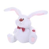 Osterhase Schöne Tanzen Schütteln Kopf Singen Weiß Große Ohren Kaninchen Elektrisches Spielzeug