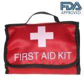 34PCS Kit de primeros auxilios a prueba de agua de primeros auxilios aprobado por la FDA