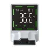 Настенный электронный инфракрасный термометр Бесконтактное автоматическое измерение температуры с сигналом тревоги с цифровым ЖК-дисплеем