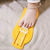Детский младенец Детский манометр Размер обуви Правитель Измерение Инструмент Калькулятор Комплект устройства Желтый