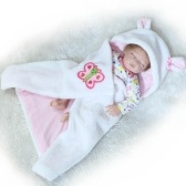 22in Reborn Baby Rebirth poupée enfants cadeau la moitié du corps couvert de courtepointes