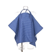 Cotton Infant Baby Nursing Cover Mother Breastfeeding Apron Baby Car Canopy Light Blue