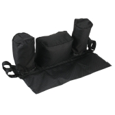 Universal Baby Stroller Organizer Diaper Bottle Storage Bag Drink Holders with Adjustable  Magic Tape Black
