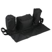 Universal Baby Stroller Organizer Diaper Bottle Storage Bag Drink Holders with Adjustable  Magic Tape Black