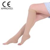 Medizinische Qualität 40-50mmHg Abgestufte Kompressionssocken Kniehohe Open-Toe 1 Paar Feste Druck Unterstützung Strümpfe Schlauch CE Genehmigt S / M / L / XL / XXL