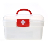 Carevas Plastic First Aid Medicine Storage Box Организатор Handlled Family Emergency Kit Чехол для хранения со съемным лотком