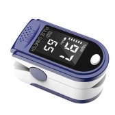 Portable Fingertip Oximeter L-ED Display Blood Oxygen Pulse Rate Monitor for Family Travel (Blue)