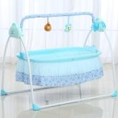 Elektryczna kołyska dla dziecka kołyska Huśtawka Kołysana Połącz z mobilną zabawą Muzyka Kosz do spania Łóżeczko Łóżeczko dla noworodka