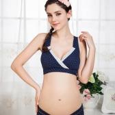 Grossesse soutien-gorge coton sans fil de maternité Allaitement allaitement Bras de sommeil jaune M (34/75)