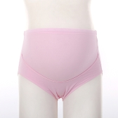 2Pcs Maternity Underwear Panties Cotton Abdominal Support High Waist Pregnancy Briefs Yellow+Pink L