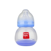 Baby Bottle Temperature Sensing Anti-colic Milk Juice Trainging Feeding 150ml Blue
