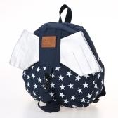 Niños mochilas escolares Mochila Anti-lost Harness Canvas Niños lindos Kindergarten mochilas escolares con alas Dark Blue Star