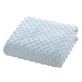 Baby Blanket Soft Polar Fleece Двойной лейбл Swawdling Emboss Коляска Детская кроватка Диван Постельное белье Одеяло Мальчик-мальчик Синий