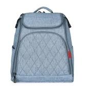 Bolso de pañales de bebé de gran capacidad de la moda bolsa de pañales de la momia bolsa de enfermería mochila de viaje para el cuidado del bebé gris