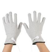 Decdeal 2PCS leitende Massage Elektrotherapie Elektrode Handschuhe S / M / L