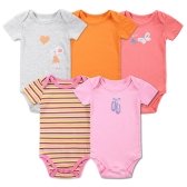 5pcs Baby Rompers Set Bodysuit 100% Cotton Short Sleeve Baby Clothing For Newborn Baby Infant Girl 0-3Months