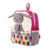 Niños Mochilas escolares Mochila Lienzo Cute Cartoon Rabbit Niños Kindergarten Primary Schoolbags Rose