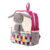 Детские школьные сумки Рюкзак Холст Смазливая мультфильм Кролик Дети Детский сад Первичные школьные сумки Роза