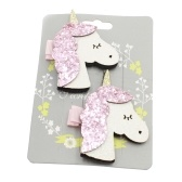Cartoon Animal Hair Clip Kid Lovely Glitter Unicorn Hairpin