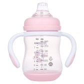 Haierbaby Brillante Baby Sippy Cup Transition Cup Trainer Feeding Bottle With Handles & Soft Spout For Toddlers Child Kids BPA Free 240ML Blue