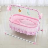 Cuna eléctrica para bebé Cuna Swing Rocking Música Remoter Control Sleeping Basket Cama Cuna