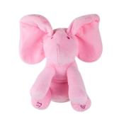 Elefante pequeño adorable animado eléctrico Flappy Push Doll Kids Present