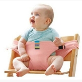 Baby High Chair Arnés Portable Safety Belt Cotton Tabla de alimentación Baby Seat Belt Pink