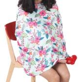Funda de asiento de coche elástica de enfermería Funda de cochecito de amamantamiento Canopy de bebé Carrito de compras Bufanda de mantón de mamá para bebés bebés y niños lactantes mamá rosa