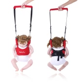 Double Baby Walker Helper Toddler Handheld Walking Harness Protective Adjustable Walk Learning Belt Assistant Coton Rouge