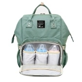 Baby Diaper Bag Large Capacity Fashion Mummy Nappy Bag Nursing Bag Travel Backpack With Charging Port for Baby Care Green