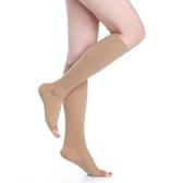 医療品質40-50mmHg卒業圧縮ソックス膝の高いオープントゥ1対の会社圧力サポートストッキングホースCE承認S / M / L / XL / XXL