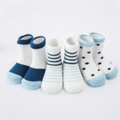 5 Pack Baby Sports Socks Unisex Cotton Anklet Socks For Infant Toddler Kids Boy Girl For 1-3 Year Blue S