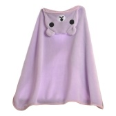 Kids Hooded Blanket Shawl Warm Flannel Catoon Stroller Car Sofa Bedding Blanket Robe Cape Cloak Boy Girl Green