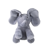 Électrique Adorable Petit Éléphant Animé Flappy Push Poupée Enfants Présent
