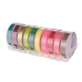 3D-пластиковая лента для тиснения этикетки для DYMO 12965 1610 Производитель этикеток с 3/8 дюймами * 9,8 фута, 1 рулон Прозрачный