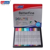 SKYGLORY Fineliner Color Pens 0.4mm Fine Tip Point Marker Pen Set, 20 Assorted Colors