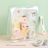 Portable Transparent File Document Bag Pouch Plastic Envelope Bill Invoice Storage