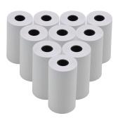 Rolo de papel térmico em branco branco 57x30mm / 2.17x1.18in Impressão de memorando de recibos de fotos compatível com impressora de bolso Impressora instantânea de fotos