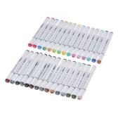 30 cores dupla ponta dupla marca marcação canetas esboço de arte marcadores para desenho gráfico colorido coloração pintura realce sublinhado