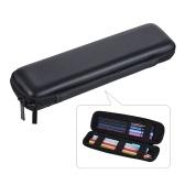 Caneta Lápis PPT Pointer Holder Escova de Maquiagem Saco EVA Hard Shell Caso Caixa Dos Artigos De Papelaria Caixa Preta