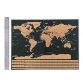 Соскреби карту мира с национальным флагом