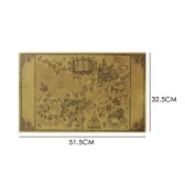 Map of the Wizarding World Around the Big Paper Poster Movie Classic Decoration 510*320mm