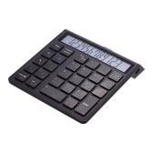 Portátil 2-em-1 Sem Fio BT 28 Teclas Recarregáveis Inteligentes Teclado Numérico Teclado & Calculadora